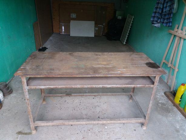 Stół ślusarski metalowy