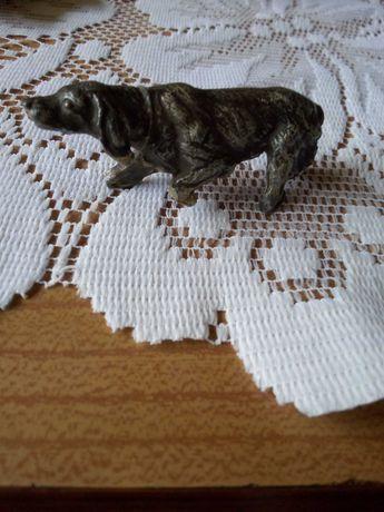 Figurka pies myśliwski przedwojenna antyk