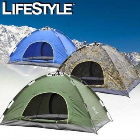Палатка 4-х местная - автоматическая 210x210x145, комфортная, купольна