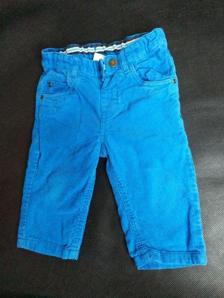 Spodnie sztruksowe r. 68 H&M