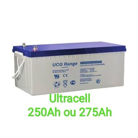 Bateria de Gel 250Ah 275Ah Ultracell 12V Descarga Lenta Solar