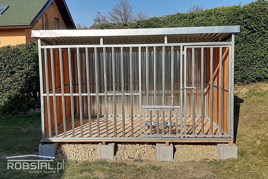 Ocynkowany wzmocniony kojec dla psa REX 3x2m zabudowany drewnem