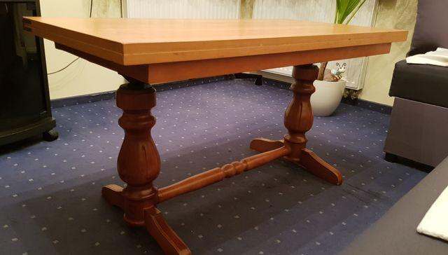 Drewniany stolik/stol rozkladany i regulowany