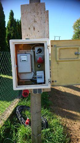 Skrzynka elektryczna na budowe