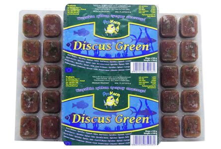 Discus green (serce wołowe) - pokarm mrożony dla ryb blister 100g