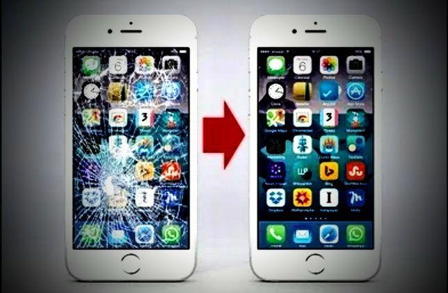 Wymiana naprawa szybki wyświetlacza dotyku iPhone Huawei...