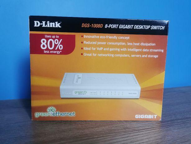 Switch D-Link DGS-1008D 8-port 1Gb/s Green Ethernet
