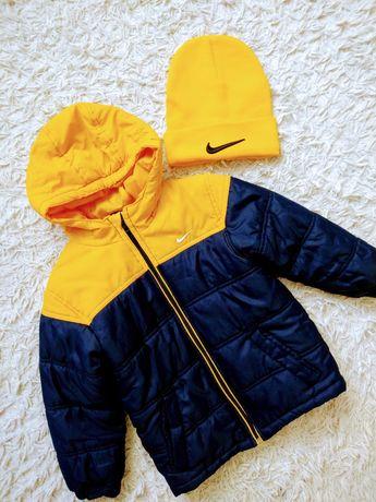 Kurtka Nike 116/122 czapka Nike dziecięca Nowa