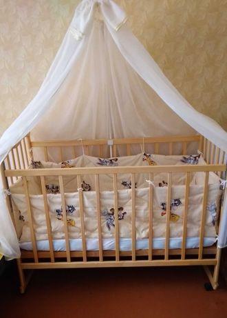 Бортики+балдахин с держателем на кроватку для новорожденного малыша