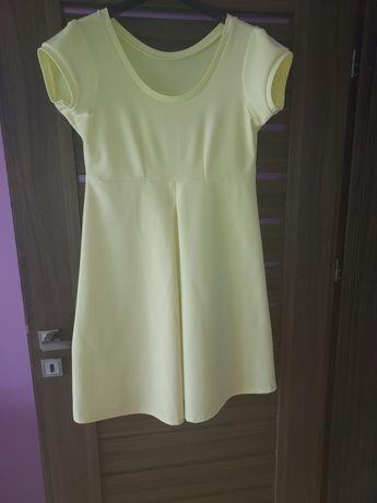 Żółta sukienka 44