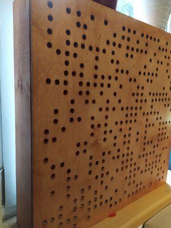Panel akustyczny dyfuzor binarny rozpraszający i pochłaniający