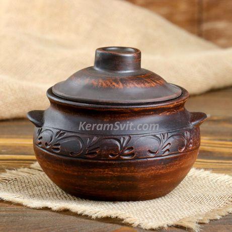 Горшочки для запекания глиняные, керамические для печи, духовки горшки