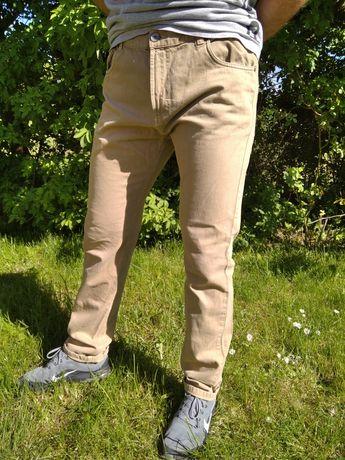 Spodnie Diverse 34/32 bezowe Slim fit