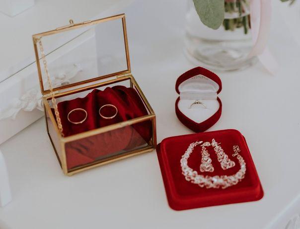 Zestaw kolczyki + bransoletka kryształy SWAROVSKI