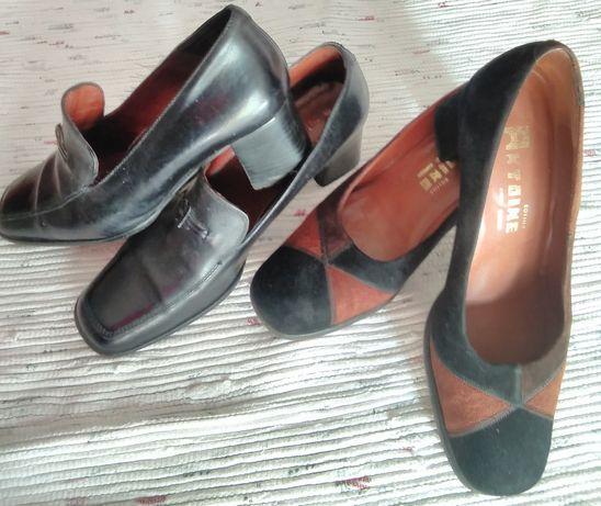 Oferta em dois (2) pares de Sapatos em pele de mulher Marca Antoine