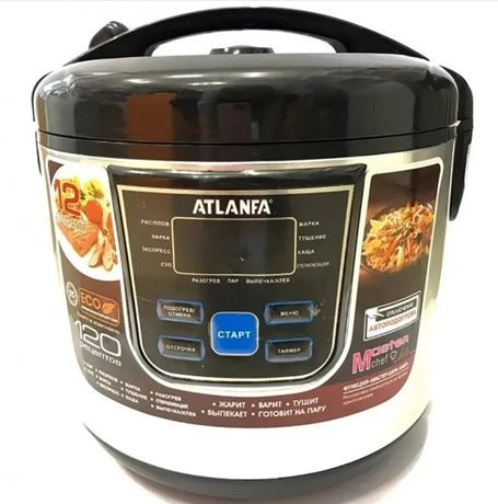 Мультиварка ATLANFA AT-M08 6Л пароварка (12 программ) скороварка рисов