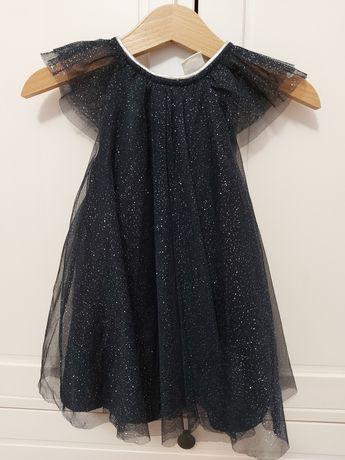 Tiulowa swiateczna sukienka H&M rozmiar 74