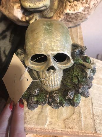 Ozdoba czaszka do akwarium