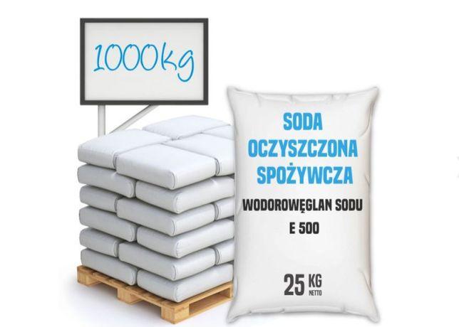 Soda oczyszczona spożywcza, bez antyzbrylacza E 500 (ii) 1000 kg