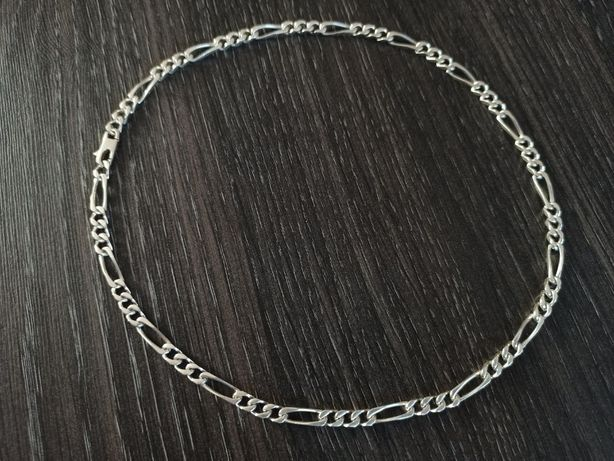 Srebrny łańcuszek FIGARO Srebro 925 WYSYŁKA 30g szeroki męski