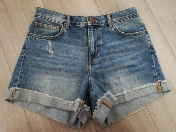 Szorty, spodenki, zara, 40, denim, jeansy,
