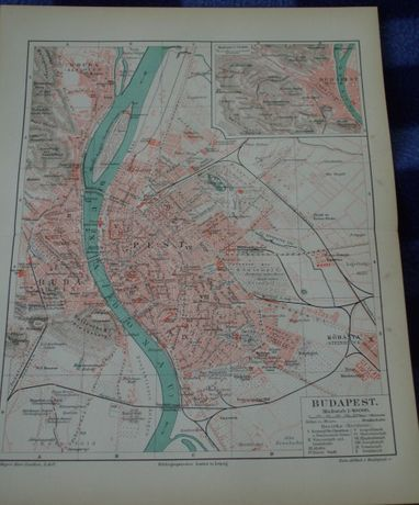 BUDAPESZT, CHICAGO, FLORENCJA oryginalny plan miasta do aranżacji