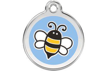 Адресник Red Dingo 30мм. Bumble Bee Light Blue