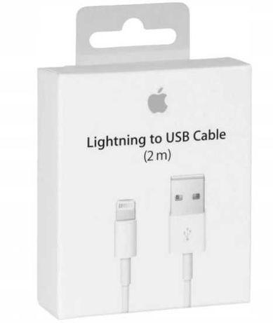 ORYGINALNY Kabel Lightning 2Metrowy IPHONE 5 6 7 8 X 11 12