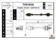полуось правая RENAULT ESPACE 1,9dti 1996-2003року T49184A авс44зуб 27
