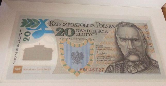 20 zł Banknot kolekcjonerski Legiony Piłsudski