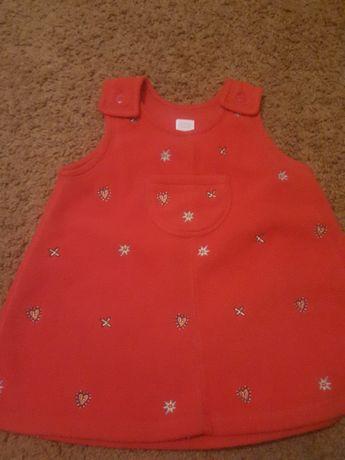 sukieneczka Adams ocieplana 74 cm dziewczynka czerwona
