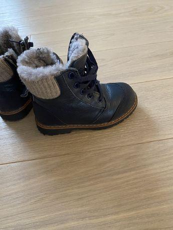 Зимние ботинки Woopy 26р кожанные в отличном состоянии
