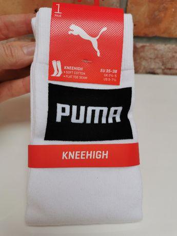 Puma kolanówki getry nowe do piłki nożnej 35-38 białe
