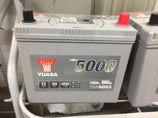 Yuasa Silver YBX5053 12V 50Ah 450A Kraków wymiana Honda Civic Toyota
