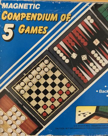5 jogos reunidos - tabuleiro magnético