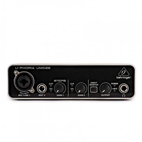 Interface Audio Behringer UMC22 usb (novo)