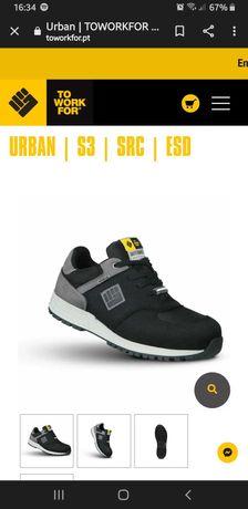 Sapatos de segurança novos