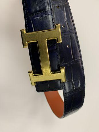 Ремень Hermes  кожа крокодила