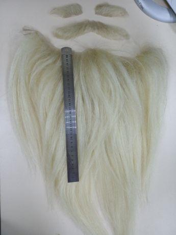 Накладная борода, усы, брови из натуральных волос