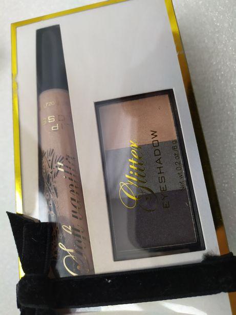 Набор H&M блеск для губ Soft Vanilla и тени Glitter
