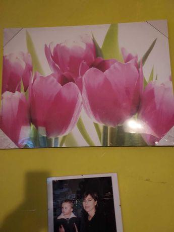 "Obraz na płótnie""Tulipany "" druk."