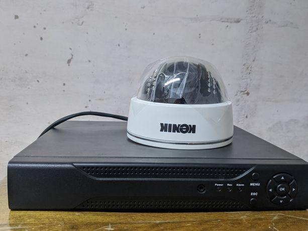 Zestaw do monitoringu KENIK (rejestrator + hdd 500GB + 4 kamery IP)