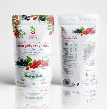 Liofilizowany energetyczny mix owocowy 25 g.