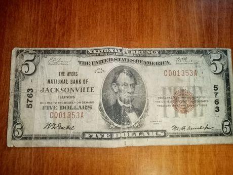 5 долларов 1929 года
