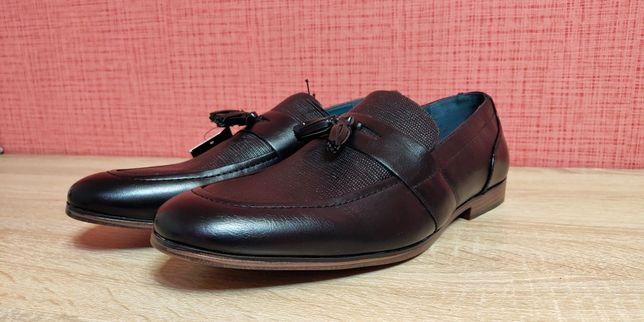 Чоловічі шкіряні туфлі 43 розмір