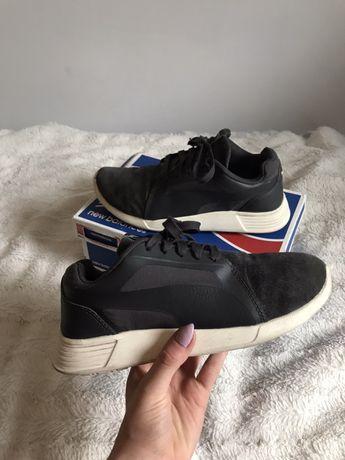 Buty szare czarne białe puma adidasy sportowe 37 38 37,5 23 23,5 24 cm