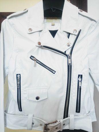 Michael Kors kurtka skórzana typu ramoneska, modna,biała. Jak nowa.