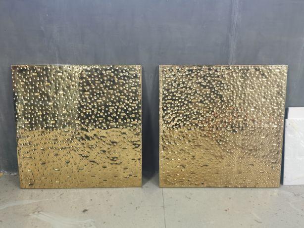 Quadros dourados decorativos