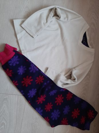 Primark polarowa piżama 128cm
