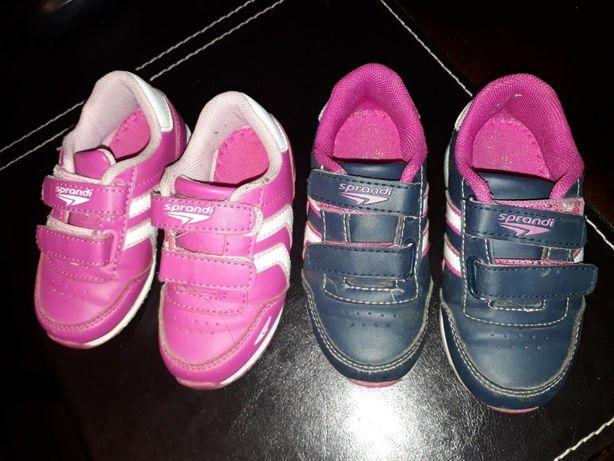 Buciki dziecięce sportowe dla dziewczynki- 2 pary